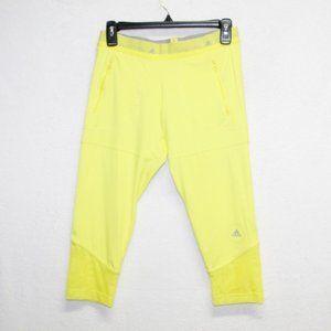 adidas Stella McCartney neon yellow capri leggings